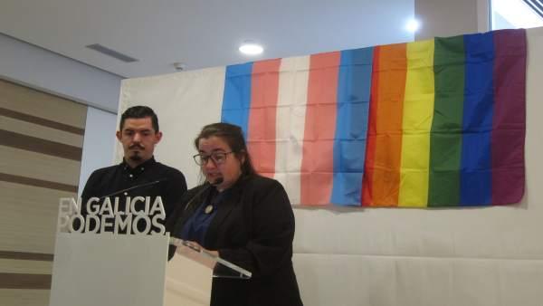 Natalia Prieto y Eduardo Ortiz, de Podemos Galicia