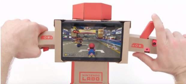 Ahora es posible jugar a 'Mario Kart 8 Deluxe' con Nintendo Labo