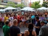 Concentraciones de protesta contra la agresión sexual en Molins de Rei.