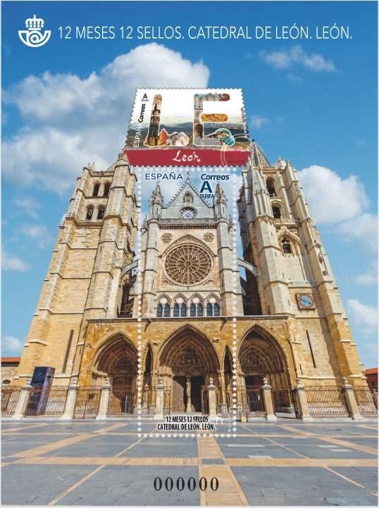 El nuevo sello que conmemora la Catedral de León y subsana el error.