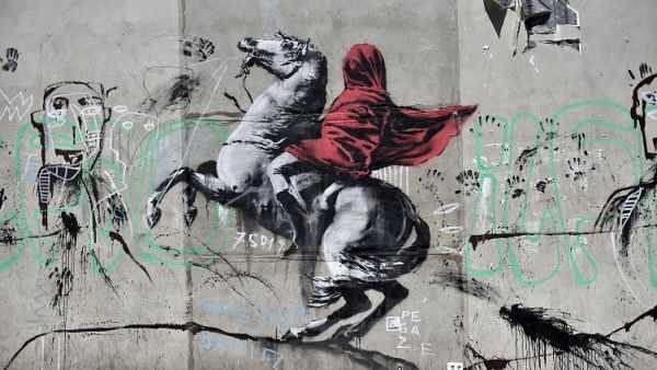 Arte callejero de Bansky en París.