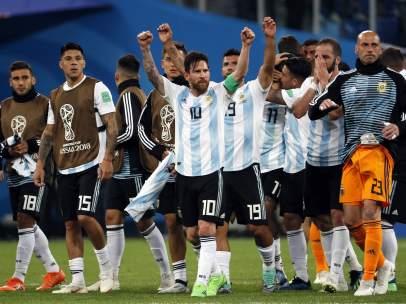 Celebración de Messi