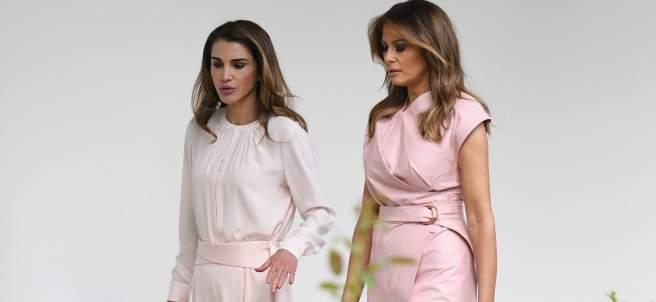 Melania Trump con Rania de Jordania