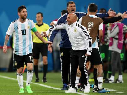 Messi y Sampaoli