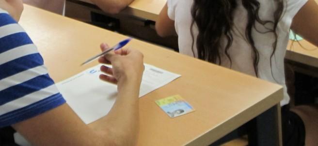 Estudiantes haciendo la selectividad en la Universidad de Sevilla.