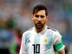 Leo Messi, con la camiseta de la selección de Argentina.