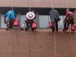 Superhéroes ventanas.