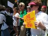 Manifestación contra la política migratoria