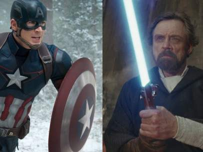 Capitán América y Luke Skywalker