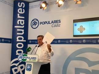 José Loaiza, portavoz del PP en la Diputación de Cádiz