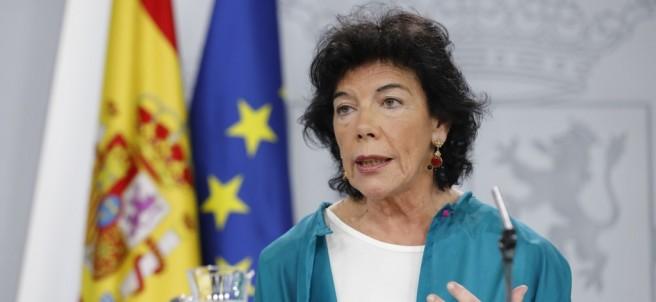 Rueda de prensa de la portavoz del Gobierno, Isabel Celaá, tras el Consejo
