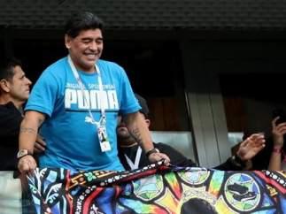 Maradona, en el encuentro entre Argetina y Nigeria.