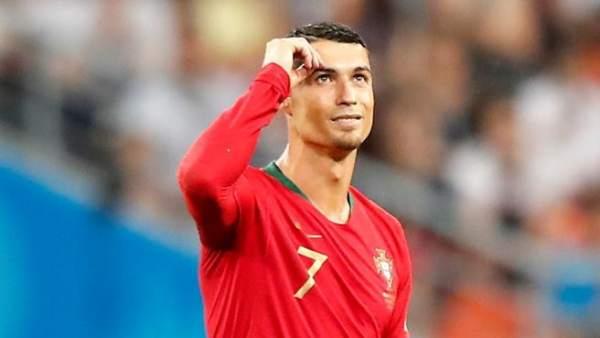Cristiano Ronaldo, con la camiseta de Portugal.