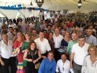 Convivencia del PP en la Feria Real de Algeciras (Cádiz)