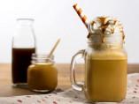 café frappé con dulce de leche