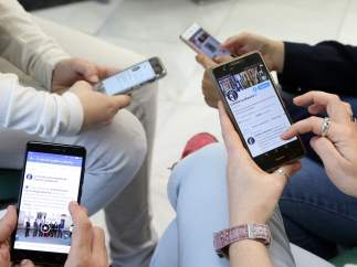 Redes sociales, móvil, móviles, teléfonos, Internet