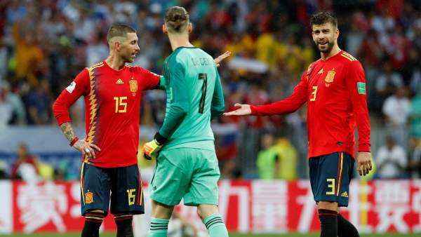 Ramos, De Gea y Piqué