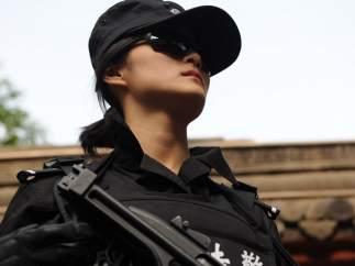Mujer policia China