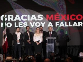 López Obrador declara su victoria como presidente de México