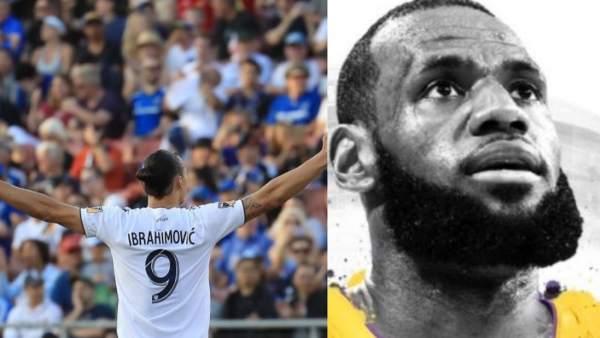 Zlatan Ibrahimovic y LeBron James