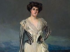 Retrato de María Luisa Maldonado, Marquesa de Torneros Joaquin Sorolla subasta Thyssen