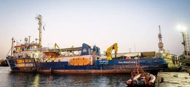 El 'Sea-Watch 3' atracado en un puerto de Malta
