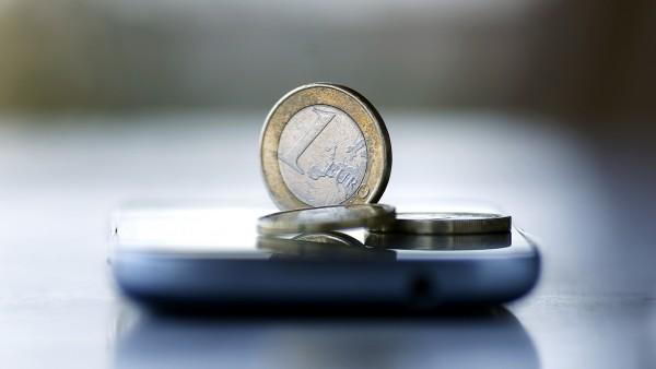 Una moneda de un euro.