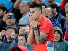 James Rodríguez, durante el encuentro entre Colombia e Inglaterra de Rusia 2018.