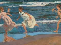 Joaquín Sorolla y Bastida, Corriendo por la playa. Valencia, 1908