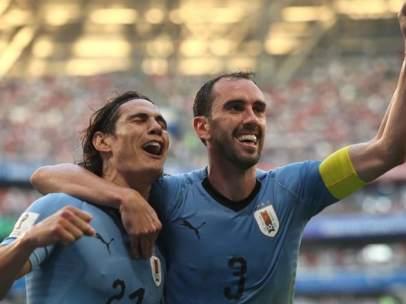 Diego Godín y Cavani, dos de los pilares de Uruguay en Rusia 2018.