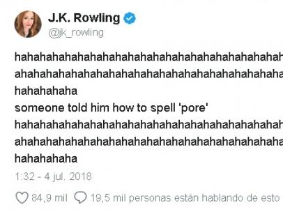 J.K. Rowling y Trump