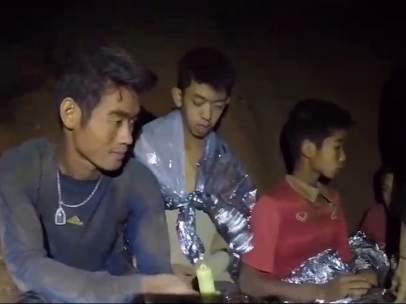 Encerrados en la cueva de Tailandia.