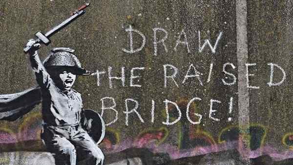 Grafiti 'Draw the raised bridge', de Bansky.
