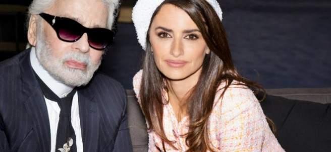Penélope Cruz y Karl Lagerfeld