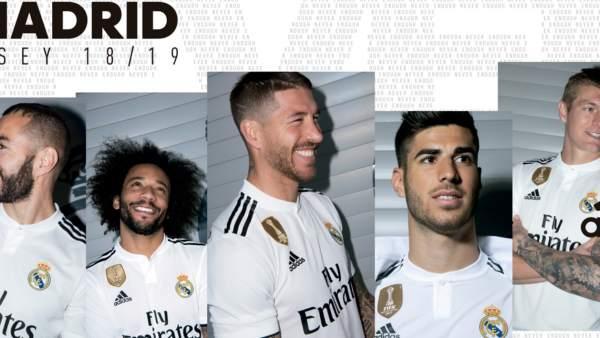 El Real Madrid presenta sus camisetas para la temporada 2017/2018.