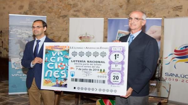 Presentación en Sanlúcar del Sorteo de Lotería Nacional del mes de julio