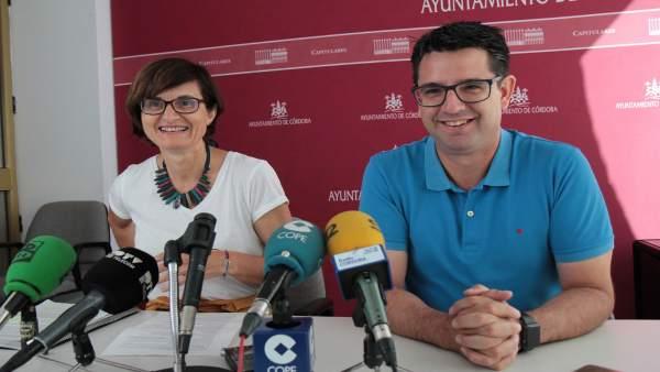 Pernichi y García en la rueda de prensa