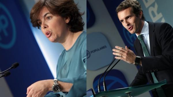 Soraya Sáez de Santamaría y Pablo Casado