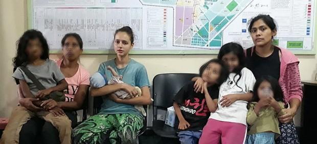 Patricia Aguilar con su bebé.