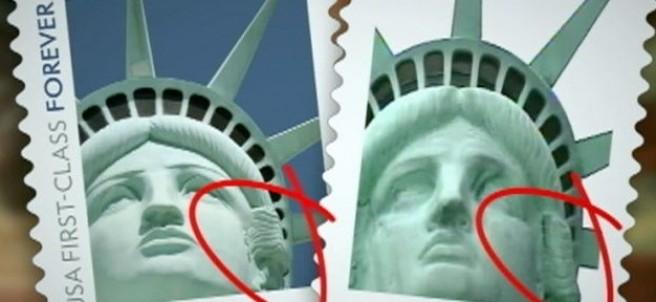 Sello estatua libertad