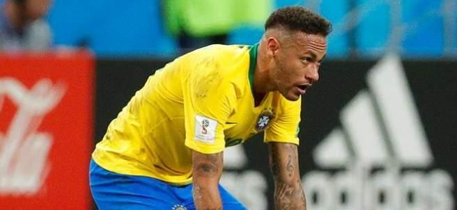 Neymar, en el encuentro entre Brasil y Bélgica de Rusia 2018.
