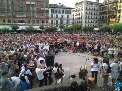 Acto de homenaje a Nagore Laffage en Pamplona.