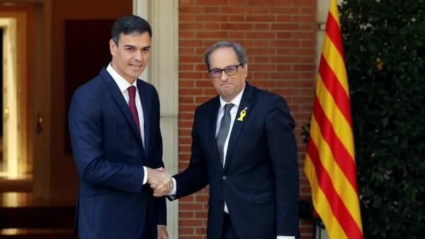 Sánchez y Torra en la Moncloa.