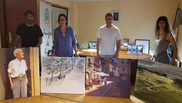 Foto de los ganadores de XXXI concurso de pintura 'Ciudad de Frías'