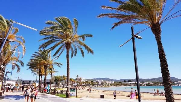 Sant Antoni de Portmany, recurso, Ibiza, playa, paseo, turismo, turistas