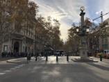 Parte superior de la Rambla de Barcelona.