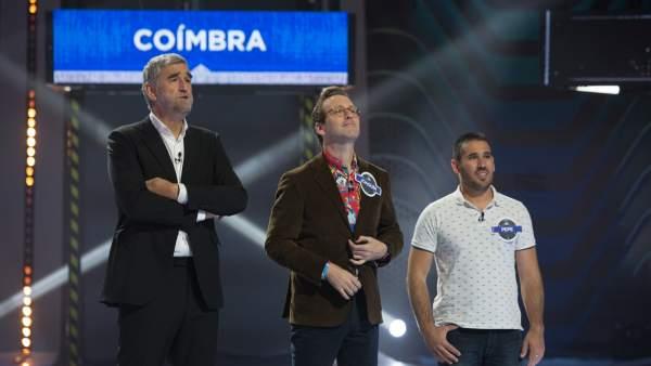 Juanma López Iturriaga, Joaquín Reyes y un concursante en 'Crush'.