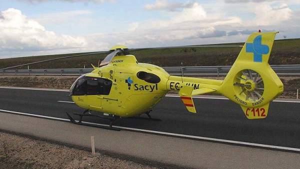 Valladolid.- helicóptero sanitariao