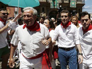 Pablo Casado, increpado en Pamplona