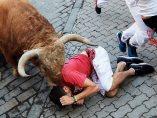 Un toro sobre la cabeza